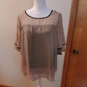 NY collection polka dot blouse size medium